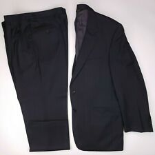 Jos A Bank 43R Suit Signature Gold Gray Pinstriped Man Size Wool Gordon 2 Button