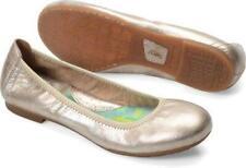 womens panna cotta metallic gold BORN julianne ballet flats leather shoes 7.5 M