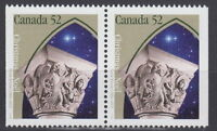 Canada #1586as 52¢ Christmas Capital Sculptures Pair from Booklet MNH