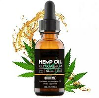Hemp Seed Oil 10,000mg! Pure Full Spectrum Extract Essential Oil Immune 10000mg.