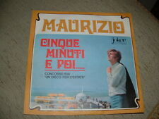 """MAURIZIO """" CINQUE MINUTI E POI """" UN DISCO PER L'ESTATE'68  ITALY"""