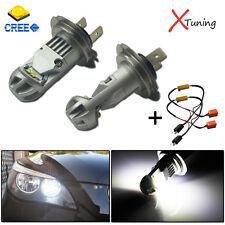 2pcs Error Free Xenon White H7 LED Kit For BMW 3 5 Series Daytime Running Lights