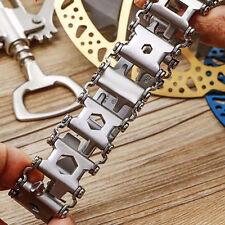 29 in1 Multifunction Bracelet Wristband Bottle Opener Screwdriver Emergency Tool