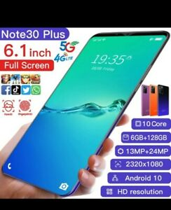 Glob 30 Ultra 5g 6.1 Inch Smartphone Blue Face/Finger Print Recognition Dual Car