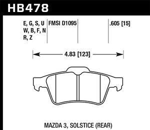 Disc Brake Pad Set-T5 Rear Hawk Perf HB478F.605