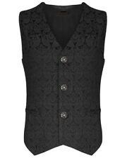 New Men's Vest Waistcoat Gothic Steampunk Victorian/SOA Biker Club Vest/USA