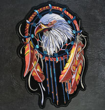Iron on / Indiana Eagle Dreamcatcher Heat Press Patch for Jacket Extra Large