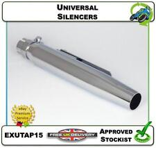 """NEW UNIVERSAL SILENCER CHOPPER MOTORCYCLE EXHAUST 15"""" TAPERED & MOUNTING"""