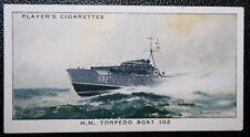 Royal Navy Motor Torpedo Boat   MTB 102     Original Vintage Card  VGC