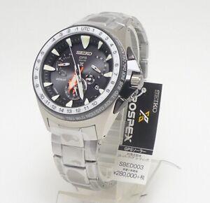 SEIKO PROSPEX MARINEMASTER SBED003 GPS Solar Black Dial Watch NEW