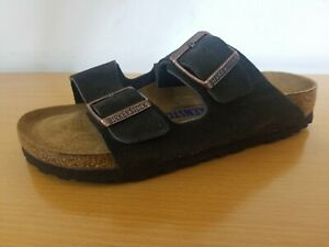 Birkenstock Arizona Soft Footbed Suede Leather Mocha - Choose Size & Width