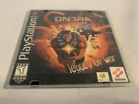 Sony Playstation 1 Game Contra Legacy of War w Manual Missing Case Tested