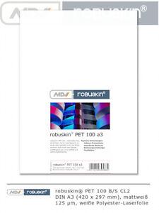 robuskin PET 100 Laserfolie Polyester A3 A4 A5 155 g/m² 100-500 Blatt mattweiß