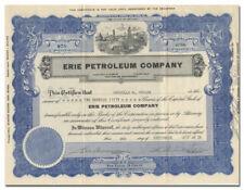Erie Petroleum Company Stock Certificate