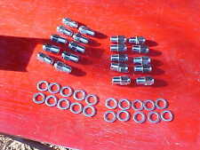 20 chrome mag wheel 3/4 shank lug nuts & washers,1/2 x 20,rat rod,us mag/etc