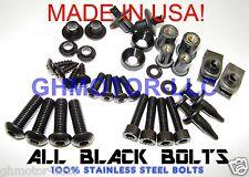NEW 03 04 GSX-R GSXR 1000 Black COMPLETE FAIRING BOLTS FASTENERS SCREWS KIT USA