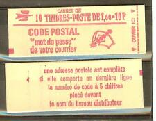 CARNET TYPE MARIANNE DE BEQUET GOMME TROPICALE 1 FRANC N° 1892 C2 a**  COTE € 38