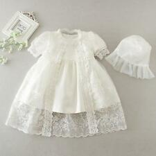Gorgeous Embroidery Christening Dress Baby Girl Baptism Gown Toddler 3-24 Months