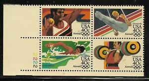 Scott C105-08 US Air Mail Stamp 1983 40c Olympics Plate Block of 4 LL MNH