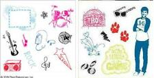 Set of 2 Disney Clear Stamp Collections High School Musical Music Icons Troy etc