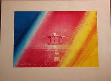 Jacques MONORY Sérigraphie signée numér. Concorde Air France Adieu ma jolie **