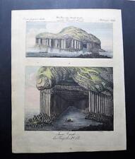 Orig. Kupferstich aus Bertuch - INSEL STAFFA , Schottland , Scotland  (#O1#)