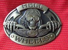 HELL ON WHEELS CHOPPER BIKE BIKER EASY RIDER MOTORCYCLE MOTORBIKE BELT BUCKLE