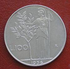REPUBBLICA ITALIANA MONETA DA 100 LIRE ANNO 1956 MINERVA 1° TIPO ACMONITAL #1
