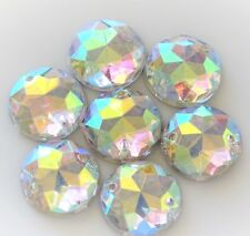 60pcsx 12mm Crystal AB Acrylic Flatback Round Strass Rhinestones Crystal Sew-on
