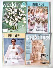 BRIDAL magazines lot of 4 WEDDINGS Martha Stewart cake flowers dress Brides