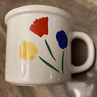 Vintage 80's Marimekko OY By Pfaltzgraff USA Three Flower Coffee Tea Cup Mug