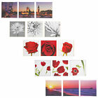 Set of 3 Split Picture Home Decor Wooden Canvases Wall Art Print Sea & Flowers