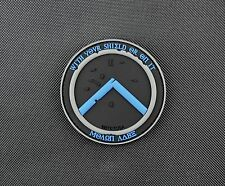 Thin Blue Line Molon Labe Shield 3D PVC Morale Patch VELCRO® Brand Police TBL