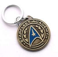 STAR TREK Starfleet Academy Pendant Shield Metal KEY CHAIN Ring Keychain NEW
