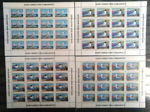 TURKISH CYPRUS 2010, WORLD ENVIROMENT DAY KLEINBOGEN SHEET WWF 4v ( BIRD ) MNH