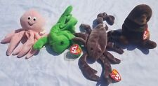 TY BEANIE BABIES WHOLESALE SET LOT of 4 OCEAN COLLECTION  VINTAGE #2 Tags