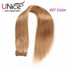 UNice #27 100g/Bundle Blonde Brazilian Virgin Hair Straight Human Hair Extension