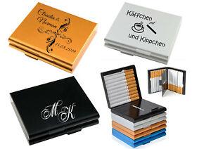 ID Zigarettenbox mit Gravur nach Wunsch 3 Farben Blech Etui für 20 Zigaretten