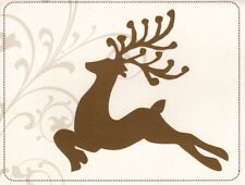 Gold Foil Leaping Buck Deer Holiday Christmas Blank Note Cards - Set of 8