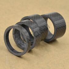 4Pcs Carbon Fiber Stem Washer Spacer Bicycle Bike Headset Fork 5/10/15/20mm DIY