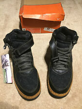 Nike Men's Air Force 1 Mid InsideOut (Anthracite/Black-Sable Green) - Size 13