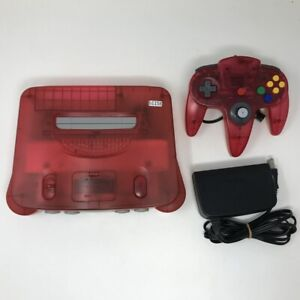 b1158 Nintendo 64 N64 console Clear red japan w/Controller set * Express
