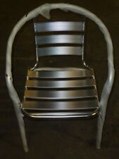 (Lot Of 52) New Chrome / Silver Metal Restaurant Indoor Outdoor Stack Chairs
