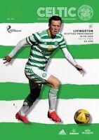 Celtic v Livingston Scottish Premier League Programme 2020/21 Free UK Delivery