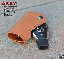 für Mercedes Schlüssel Etui Leder W212 W204 W209 W221 W222 W251 AMG cappuccino