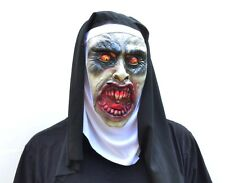 Halloween Nun Costume Mask Mask With Hood Veil Monja Evil VALAK