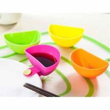 1pcs/Set Assorted Salad Sauce Ketchup Jam Dip Clip Cup Saucer Tableware Z0M8