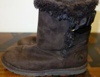 Airwalk girl Ankle Boots Brown Faux Suede & Faux Fur Lining size US 1.5