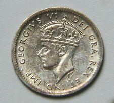 1943 NEWFOUNDLAND (Canada) George VI Silver Coin - 5 Cents - AU++ toned-lustre