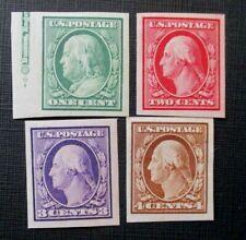 1908-09 US Bureau Regular Issues, S# 343-46, 4v, MPH, MLH OG